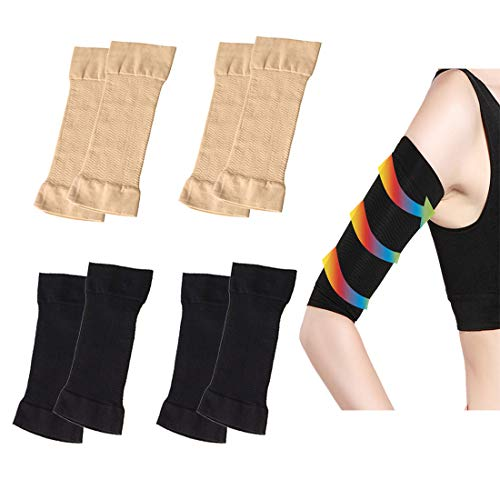 4 Pair Arm Compression Sleeve Women Weight Loss Upper Arm Shaper