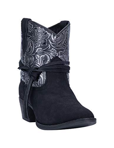 Dingo Women's Valerie Fashion Booties Round Toe Black 10 M