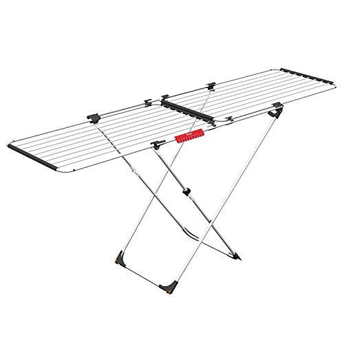 Vileda Doble Tendedero Extensible de Acero y Aluminio, Blanco, 13x0.8x6 cm