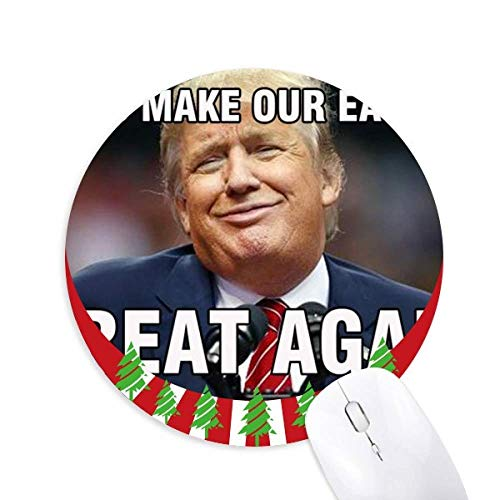 Amerikanischer Präsident Trump Löffel Bild Rundgummi Maus Pad Weihnachtsdekoration