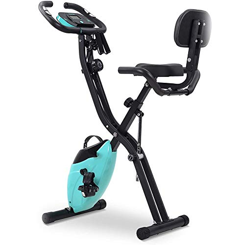 NGKWH Bicicleta Estática Plegable Máquina De Entrenamiento Interior Magnética para El Hogar para Adelgazar Y Estar En Forma - Monitor LCD Cojín Engrosado