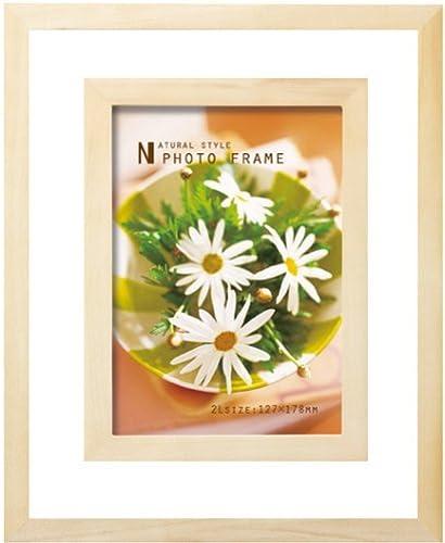 Interior wooden photo frame clear framing 2L Größe Natural (japan import)