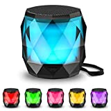 LED Portable Bluetooth Speaker,LFS Night Light Wireless Speaker,Magnetic Mini Speaker, 7 Color LED Auto-Changing,Wireless Stereo Pairing(TWS)/Handsfree Supported
