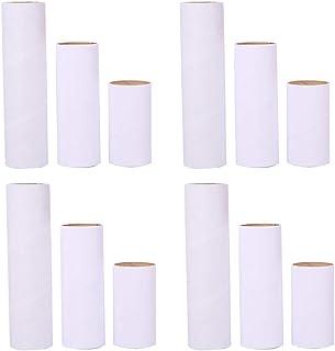 12 قطعة من أنابيب الورق المقوى كرافت كرافت من أولينيس للصف الدراسي والمشروعات الفنية باللون الأبيض