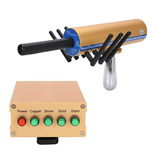 Detector de Metales Profesional - Detector de Metales de Mano con 6 Antenas Detector de Metales de Alta Precisiónpara Adultos y Niños Buscador de Metales para Oro, Plata, Cobre, Diamante(Yellow)
