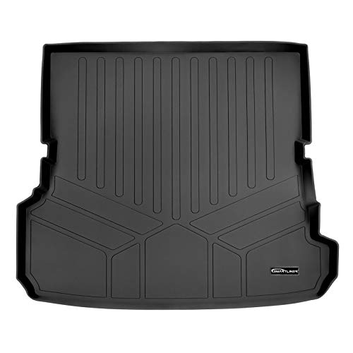 MAXLINER All Weather Cargo Liner Floor Mat Behind 2nd Row Black for 2017-2018 Audi Q7 (All Models)