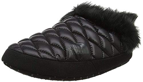 The North Face Thermoball Faux Fur IV Tent, Women's Mules, Black (Shiny Tnf Black/Beluga Grey Ywy), 3-5 UK (36-38 EU)
