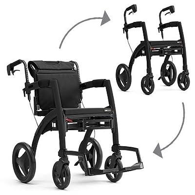 Rollz Motion 2, andador rollator y cochecito de un solo ayuda, color negro