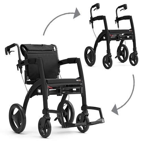 Topro Rollz Motion² 2-in-1 Rollator und Rollstuhl Schwarz Größe M