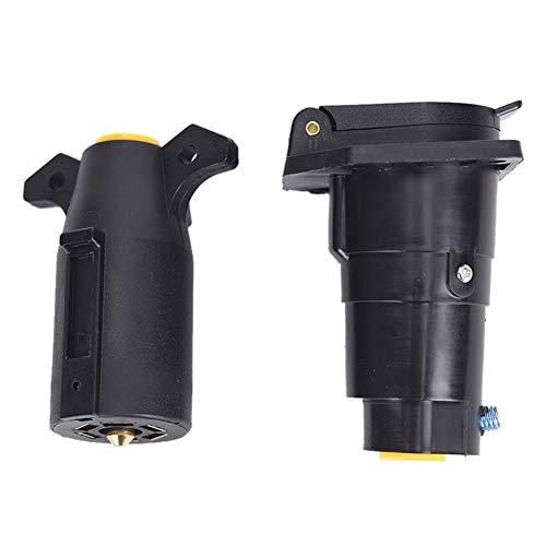 Coche Enchufe redondo extremo del adaptador de luz de remolque adaptador de enchufe del conector de cola conjunto luces de freno luces del conector de 7 vías Remolque para remolque estándar europeo