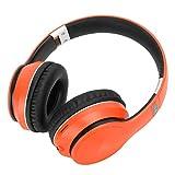 Pwshymi Gaming Kopfhörer Kopfhörer Wireless Support Radiomodus für Smartphone für MP3-Player für Sport(Orange)