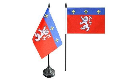 Digni Bandera de mesa Ville de Lyon, Mini bandera