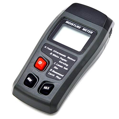 Hotaluyt Zwei Fühler Digitaler Holzfeuchte-Messgerät Dual-Pin 0-99,9{590ff09c4f717069089ac8c5c9a963031cdf05afac7cb64513b4abd252190cc1} Holzfeuchte Tester Detector Hygrometer LCD-Display