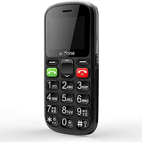 artfone CS181 großen Tasten Seniorenhandy | 2G GSM Handy mit Notruftaste | Dual SIM Mobiltelefon ohne Vertrag | Inklusive Ladegerät(Schwarz)