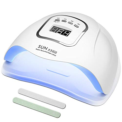 150 Watt LED UV Nail Lamp Gel Polish Curing, CCHOME Fast Nail Dryer with...