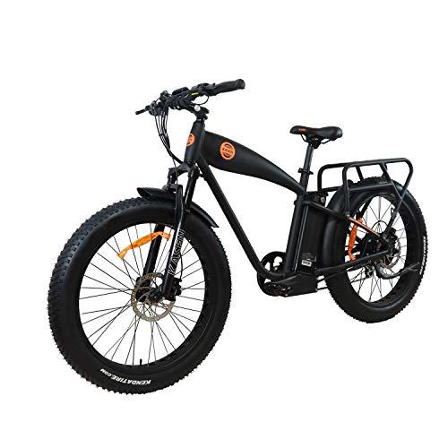 Kasen 1000W High Power Electric Bike 48v 14.5ah Samsung Battery Fat Tire Electric Bicycle Pedal Assist Rear Drive E-Cruiser (Black)