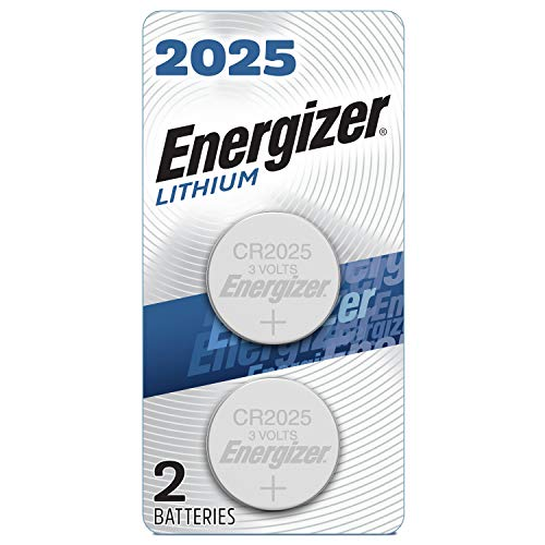 Energizer CR2025 Battery, 3V Lithium Coin Cell 2025 Batteries (2...