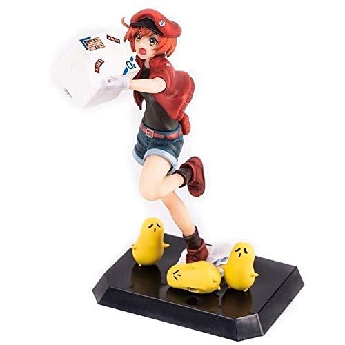 Anime Figura de acción muñeco Células en el trabajo Anime Figure Red Cell Seqkeqkyuu PVC Figuras Toys Desktop Ornaments