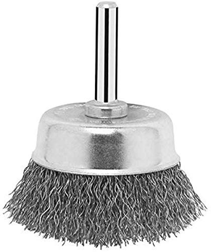 Bosch 1609200270 Shank Crimped Wire Cup Brush Steel, 70mm x 6mm