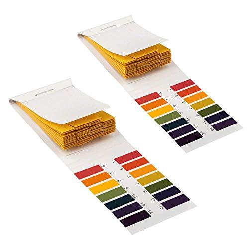 2x Molinter PH Teststreifen Testpapier Lackmuspapier 0-14 für Wasser Boden Urin Speichel 160 Stücke