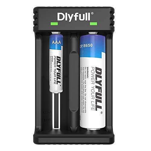 Dlyfull Intelligent Universal USB Dual Battery Charger for Li-ion/Ni-MH/Ni-Cd 26650 22650 26500...
