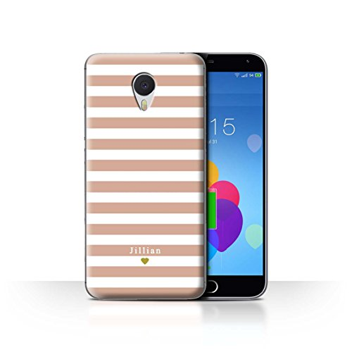 Stuff4 Phone Case/Cover/Skin/mzum3 N/Custom Stripes/Striped Collection Coeur Rose Nu