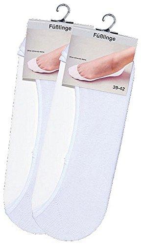 socksPur SOCKS PUR Füßlinge unsichtbar im Schuh, für Damen & Herren 3er PACK (43-46, weiß)