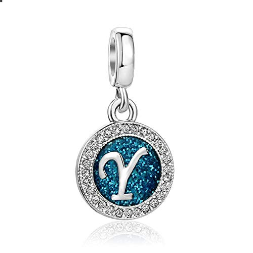 KunBead Jewelry Letter Y Initial Charms Cheap Family Love Wife Charms for Women Valentines Sale fits Bracelets