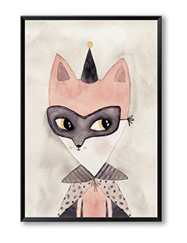 LUYE Moderne minimalistische handgemalte Aquarell niedlichen Cartoon Tier Maus Leinwand Kunstdruck Poster Bild Wanddekoration Gemälde ohne Rahmen 50 * 70Cm
