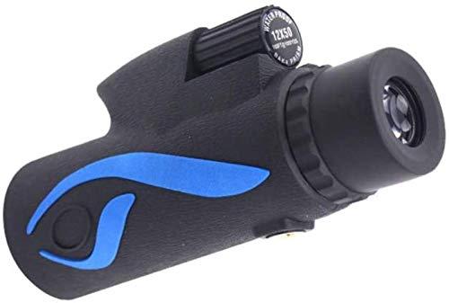 HUAYQ Telescopio monocular 12X40, portátil Life Telescopio monocular Resistente al Agua Compacto BAK4 Prisma FMC Lente Monocular con Adaptador de teléfono Inteligente para observación de Aves