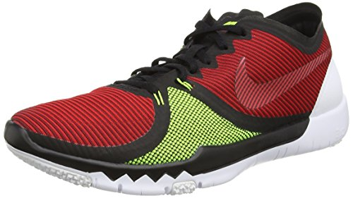 Nike Mens Free Trainer 3.0 V4 Running Shoes (Red, Black, Volt) Sz. 11.5