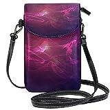 Monedero para teléfono Celular Smoke Blue Red Fog Haze Crossbody Bag Monedero pequeño para teléfono Celular para Mujer
