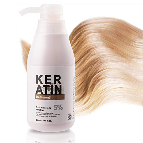Reparacion profunda del cabello,Keratin Smoothing Treatment Anti Frizz Curly Hair Care para hombres, mujeres. Queratina brasileña de 300 ml para cabello normal, seco o dañado