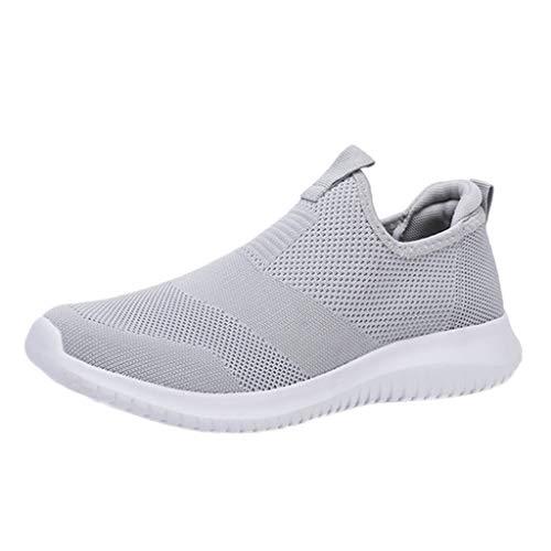 Sayla Zapatos Zapatillas para Hombres Casual Moda Verano Running Zapatillas Sin Cordones Hombres AtléTico EláStico para Caminar Gimnasio Corriendo Malla Ligero Deporte Entrenadores