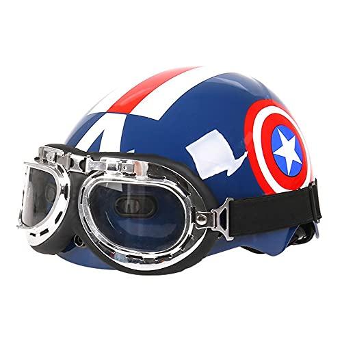 Kids/Child Boys Cycle Helmets,Captain America Shield Kids Helmet, Adjustable Toddler Bike Helmets R Bike Skating Scooter Adjustable 48-56cm(Ages 3-12) Protective Helmets