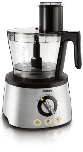 Philips HR7778/00 Küchenmaschine (1.300 Watt, inkl. Knethaken, Entsafter, Standmixer und Zitruspresse) schwarz/silber - 6