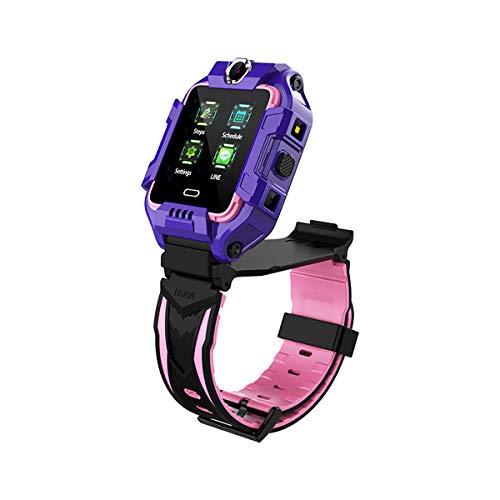 Zwbfu Y99 4G Reloj Inteligente para niños Pantalla IPS de 1.4 Pulgadas BT4.2 Video/Llamada de Voz Pasos de posicionamiento Monitor de sueño Llamada de Emergencia SOS/SOS SMS/Bajo Consumo /