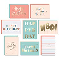 """A HAPPIER BIRTHDAY: Everyone loves birthday cards. But not those thin """"bulk pack"""" ones that people usually throw away. You don't want people throwing away the cards you give, so we created a 24pc set of bulk luxury greeting cards! Now you can grab on..."""