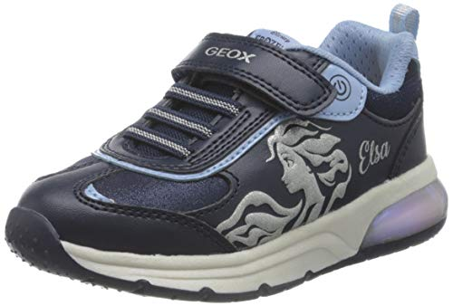 Geox J Spaceclub Girl B, Zapatillas Niña, Azul (Navy/Sky), 34 EU