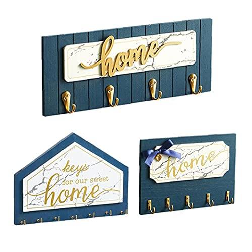 Holz Key Halter Wandmontage Mantel Kleiderhalter Vintage Tür Haken Rack Schlafzimmer Decor 3 Stücke, Halter Küche