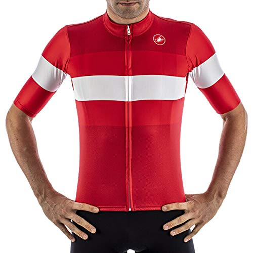 Castelli Camiseta Lamitica Rojo, L - Hombre