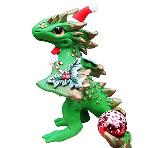 ZEEQJ Santa Baby Dragons Christmas Ornament with Lanyard Cute Christmas Dragons Toy for Home Decorative