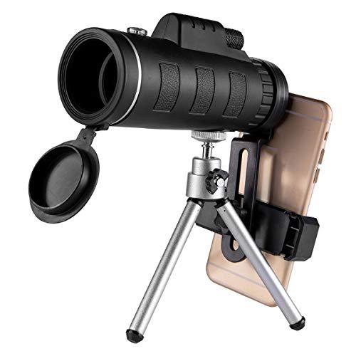 Rehomy Draagbare Compacte Monoculaire Telescoop 40X60 Met Statief Telefoonclip Voor Kamperen Jagen