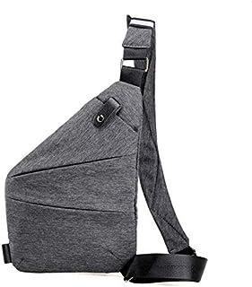 حقيبة للرجال-رمادي - حقائب طويلة تمر بالجسم