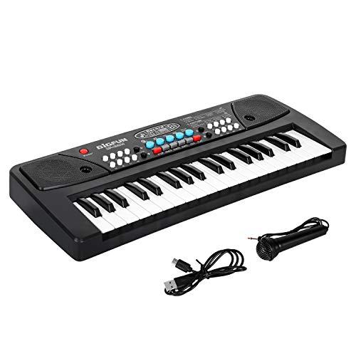 Shayson Klavier Keyboard, Digital Piano 37 Tasten Keyboard mit Mikrofon Multifunktions Musik Klaviertastatur Geschenk für Kinder