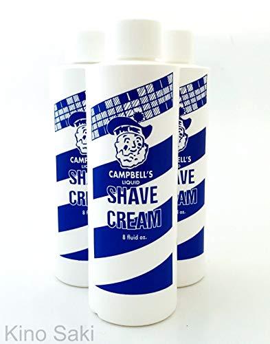 Price comparison product image 3 Pc Campbell's 8 oz Original LatherKing Latherizer Shave Cream Barber Salon USA