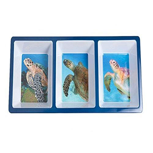 Galleyware Sea Turtle Divided Appetizer Tray