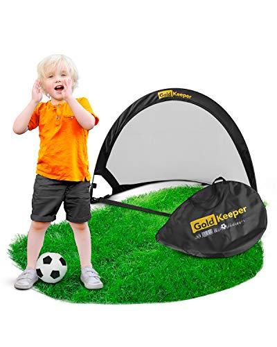 GoldKeeper® Fussballtor Kinder für den Garten [2020] Kleines Tor Kinder Fußball/Tor Fussball Kinder/pop up Tor