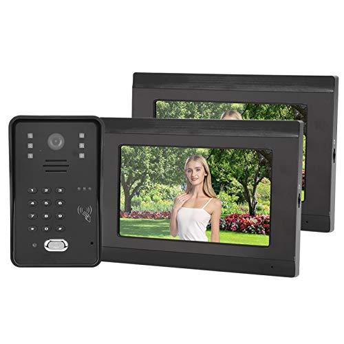 Videoportero con 2 monitores con Cubierta para Lluvia(European regulations)