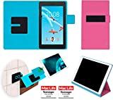 Hülle für Lenovo Tab E7 Tasche Cover Hülle Bumper   in Pink   Testsieger